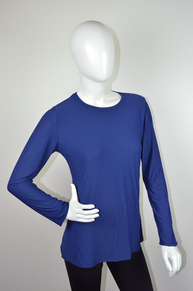 Proteção solar Blusa feminina com proteção solar UV+50 manga longa 1191 a1750689bc0ae