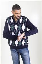 Blusa em jacquard argyle masculina 6161