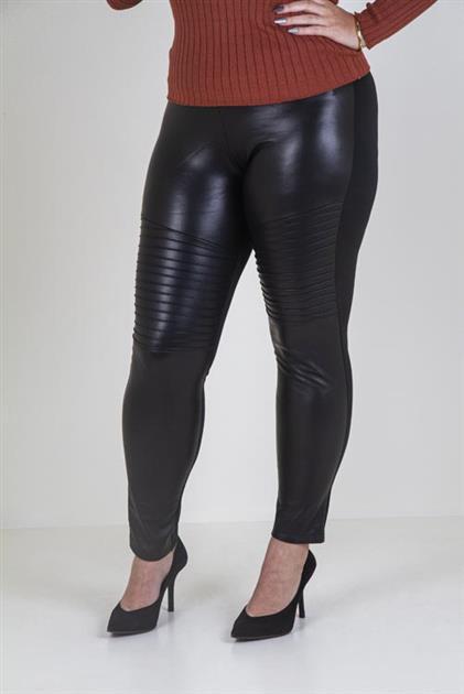 Calça ajustada com frente em sintético e costas em thermo  5083