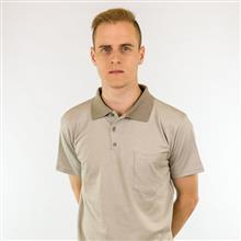 Camisa polo malha tipo poá com bolso 6076