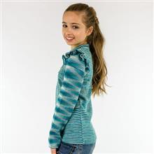 Blusa infantil mescla com babadinho e bordado em pérolas 8090