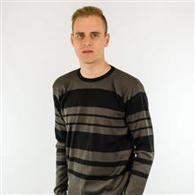 Blusão listrado duas cores decote redondo 6108