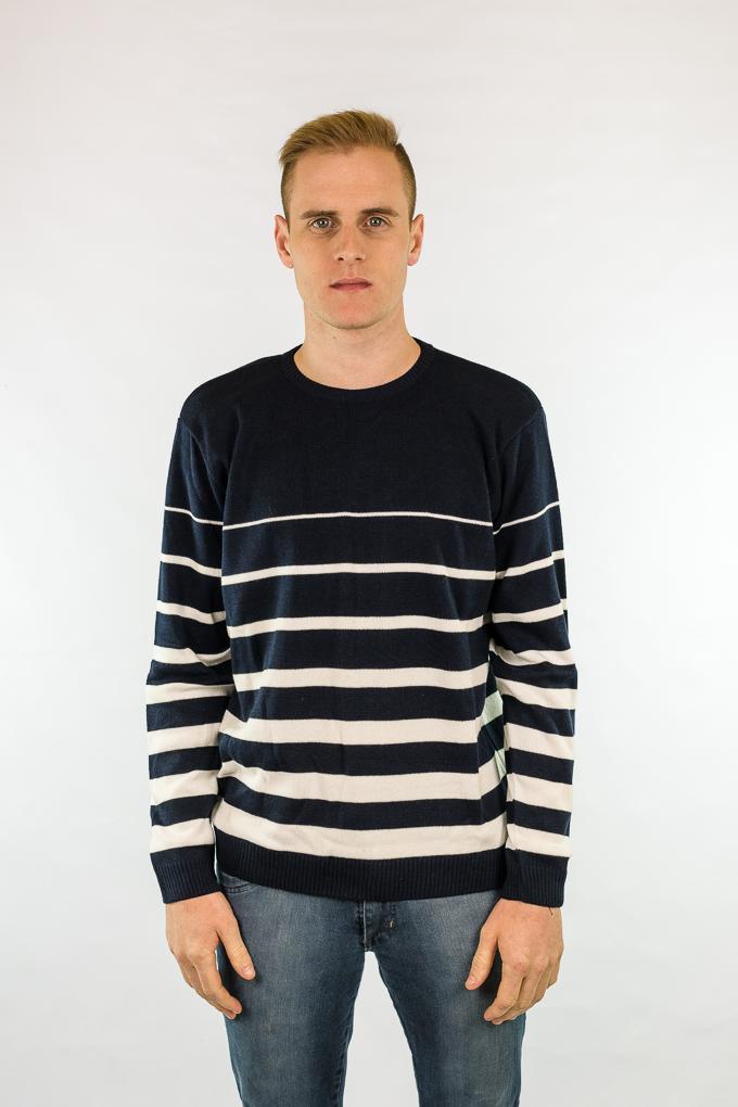 Blusão masculino com listras em degrade 6112