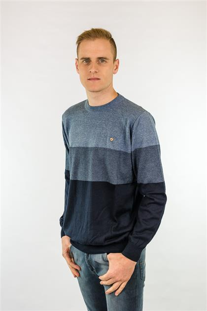Blusa masculina tricot leve com listras 6117