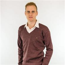 Blusão masculino decote em V com textura em nervuras na parte superior 6119