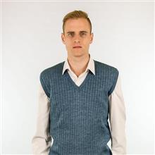 Colete lã textura canelada 6061