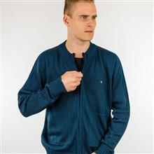 Jaqueta masculina com bolso e canelados 7020