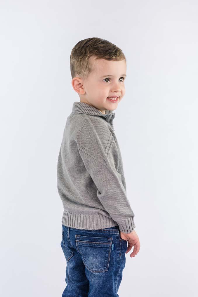 Camisa infantil com zíper  9062