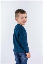 Blusão infantil leve com texturas detalhe na gola 9063