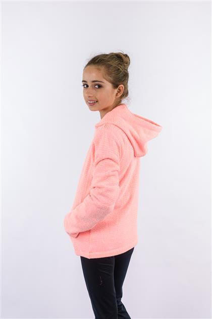 Jaqueta infantil tecido peluciado tweed cores neon 8105