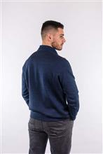 Blusão decote em V com textura 6106