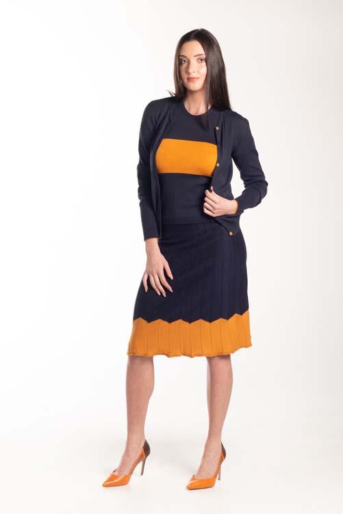 Twinset bicolor com blusa listrada 2011