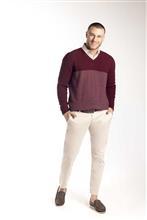 Blusão bicolor em ponto arroz 6137