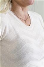 Blusa manga curta textura zigue zague 1293