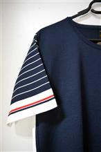 Blusa T shirt com manga listrada 1272