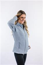 Casaco de tweed com recortes diferenciado e manga raglan