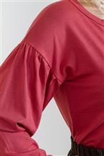 blusa de visco com mangas bufantes 1325