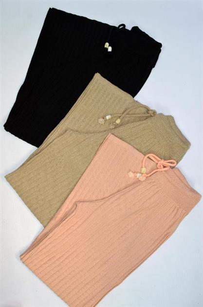 Calça pantalona canelada 5113