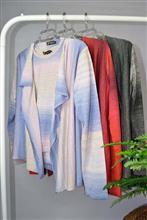 Conjunto twinset fio degradé casaco em pontas 2012
