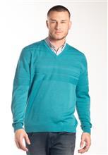 Blusão Masculino V com textura em listras superiores 6144