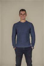 Blusão masculino textura de quadradinho e decote redondo  6148