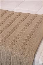 Peseira ponto arroz com tranças Queen Size 230X65 20031