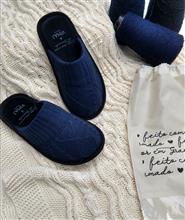 Chinelo de tricô com aran e tranças 20045