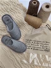 Chinelo de tricô com tranças e links 20046