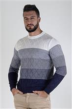 Blusão degradé com textura em losangos 6171