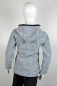 Jaqueta Infantil com capuz em tweed