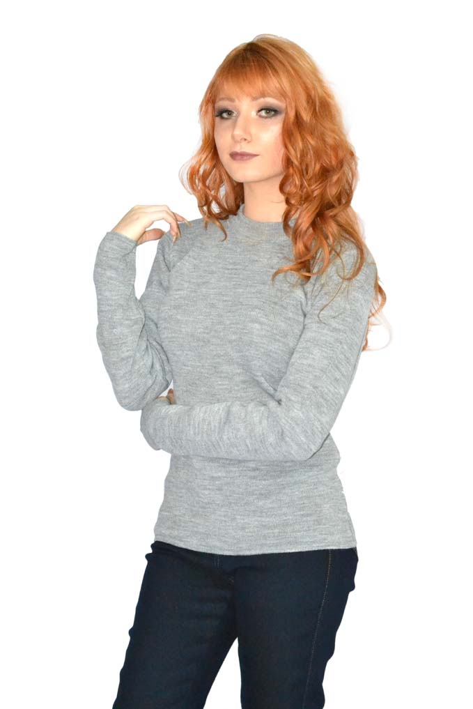 Blusa Básica Feminina Decote Redondo 100