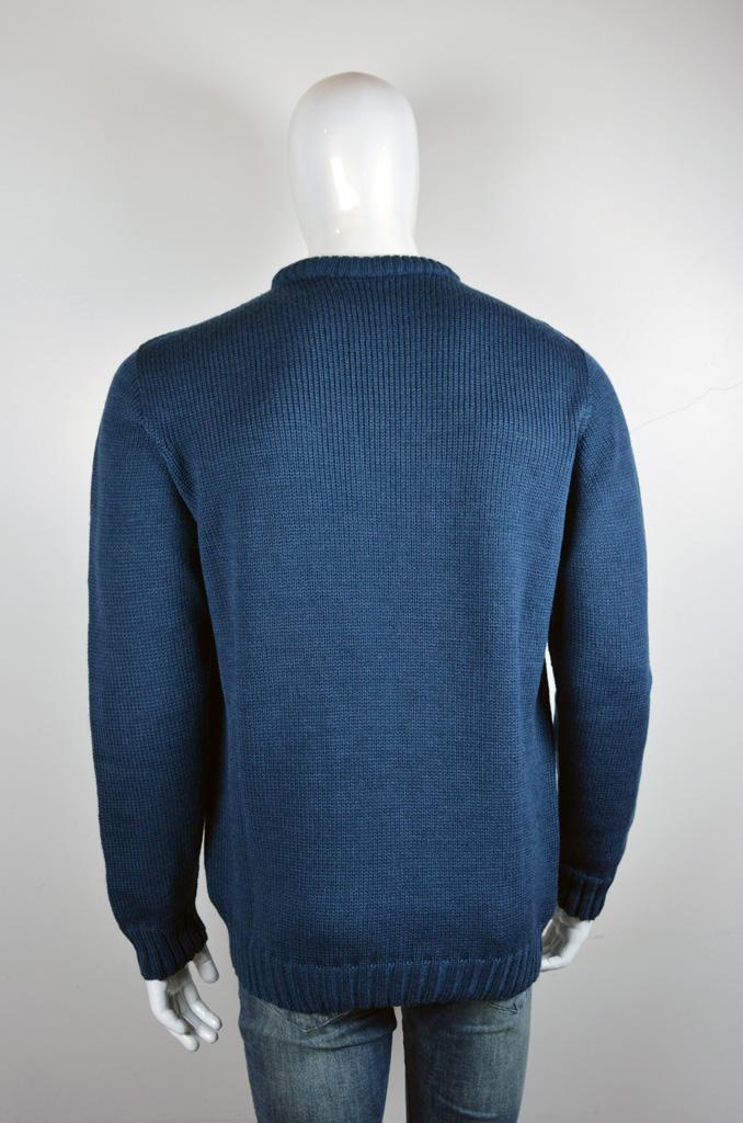 Blusão decote redondo grosso com textura  6073