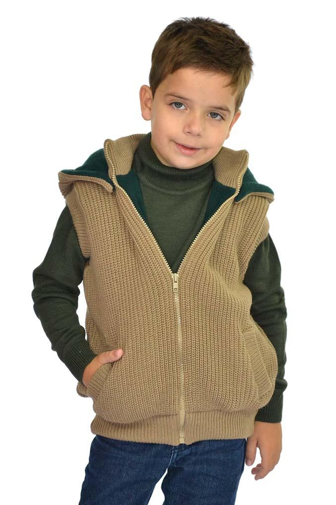 Colete tricot forro em soft 9041