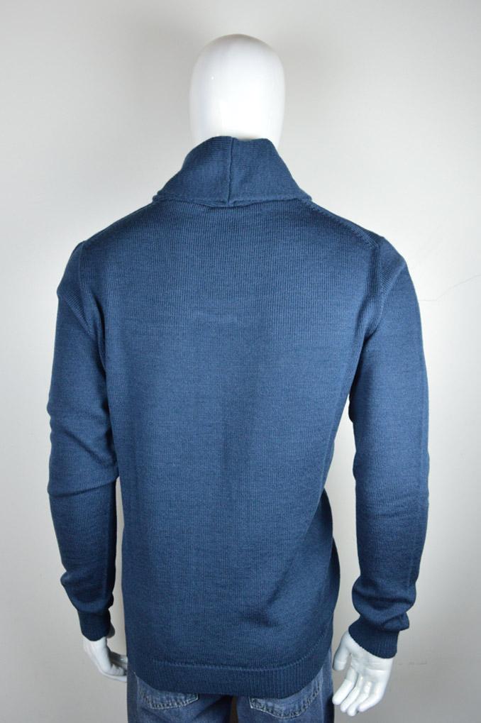 Camisa gola xale com textura 6083