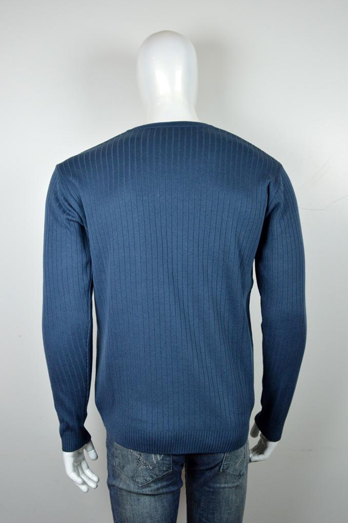 Blusão masculino textura canelada decote em v pequeno 6075