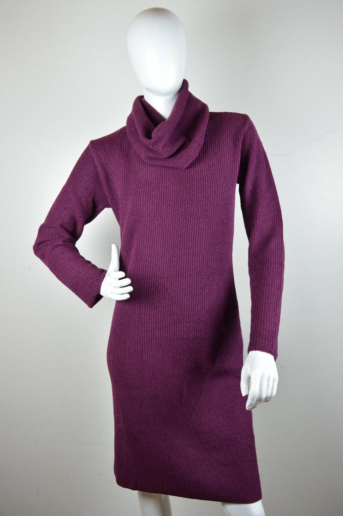 Vestido mousse ponto pérola com gola solta 5035