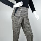 Calça tricot em jacquard xadrez 5038