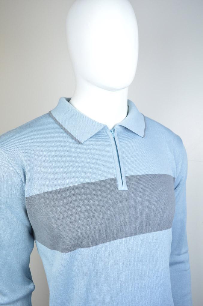 Camisa polo tricot com listra 6091