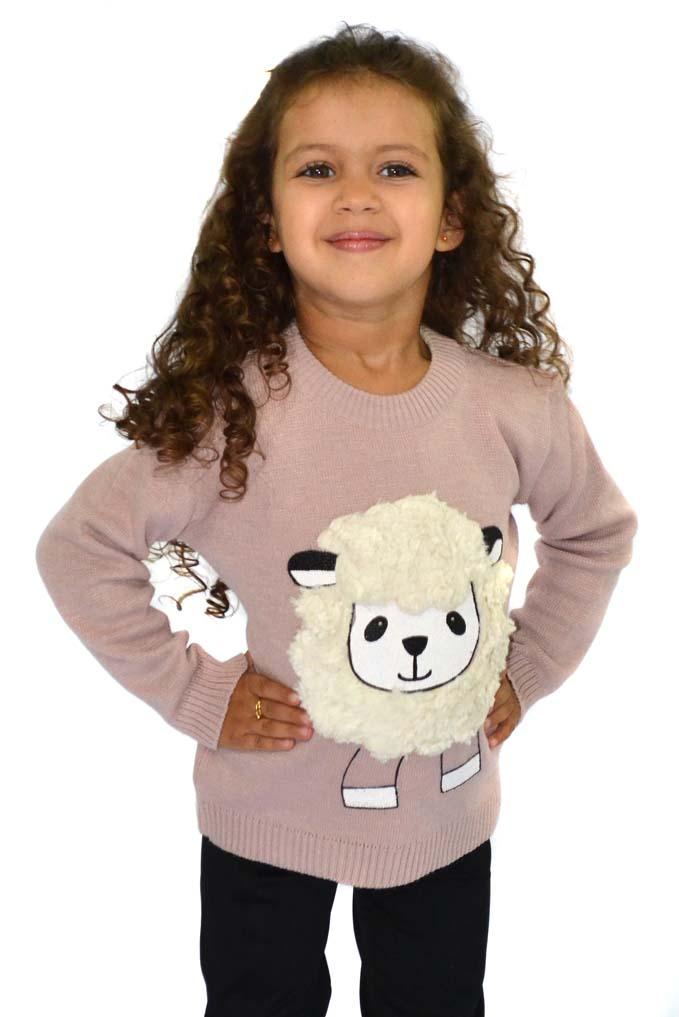 Blusão infantil com aplicação de ovelha 8077
