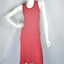 Vestido evasé com textura plissada em duas cores 5061